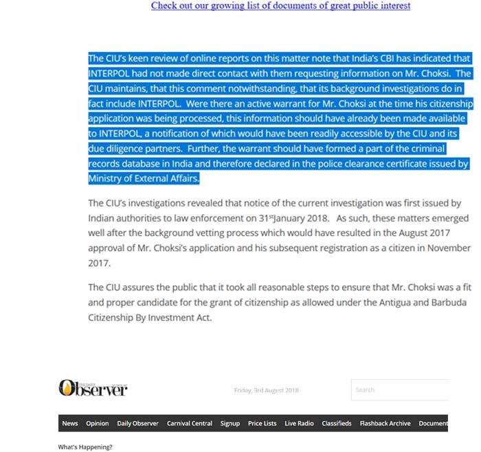CIU puts Choksi facts on the table