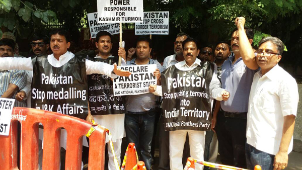 JKNPP protests outside Pak High Commission, New Delhi; leaders arrested Declare Pakistan a 'Terrorist State': Harsh