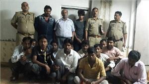 कविनगर में पन्द्रह सट्टेबाज गिरफ्तार