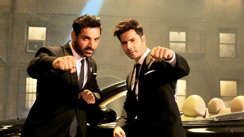 jhon abraham and varun dhawan in dhisoom