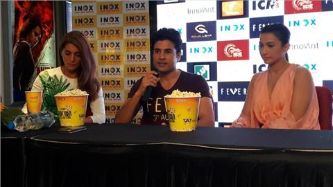 rajeev khandelwal gauhar khan press conference for fever
