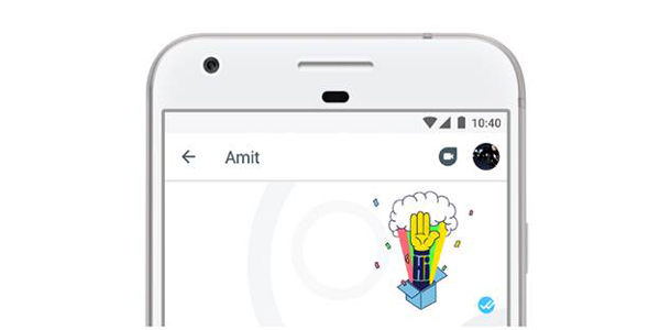 Now start a Duo video call from within Allo