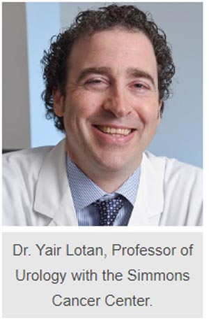 Dr. Yair Lotan, Professor of Urology with the Simmons Cancer Center.