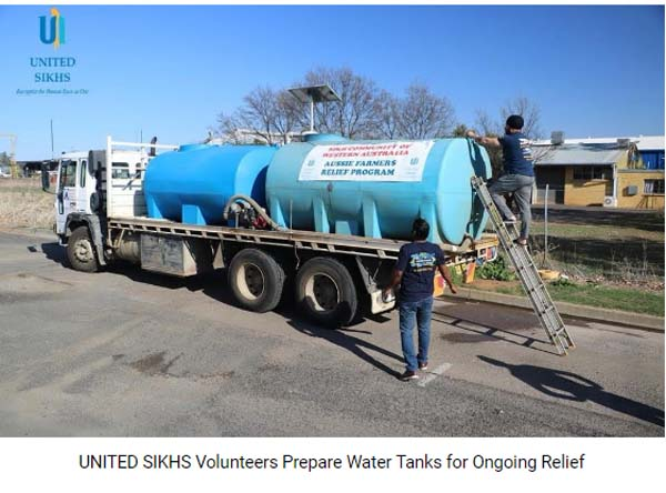 UNITED SIKHS Volunteers Prepare Water Tanks for Ongoing Relief