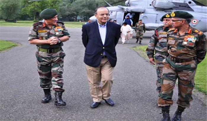 रक्षामंत्री अरुण जेटलीने कियानियंत्रण रेखा का दौरा