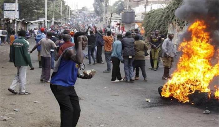 राष्ट्रपति चुनाव बाद केन्या में हिंसक प्रदर्शन, 4 की मौत