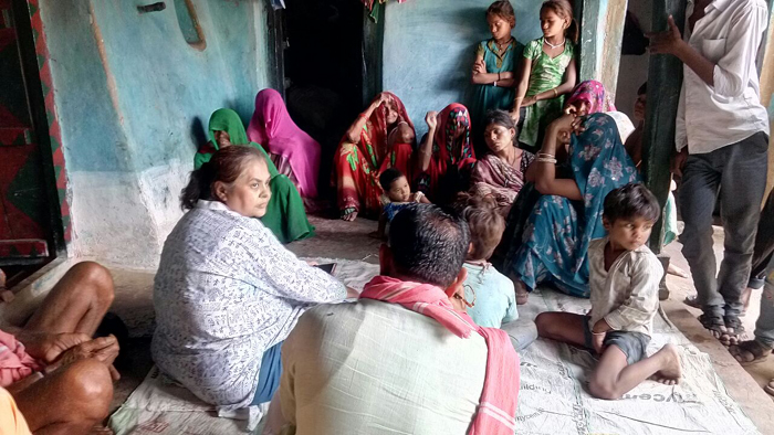 Talking to family members of the deceased and Villlagers of Ghatkhedi