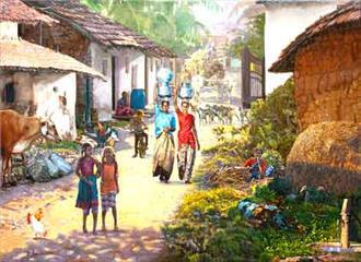 गांवों में बहार है