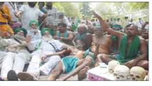 तमिलनाडु के किसानों को अन्नाद्रमुक व पंजाब का समर्थन