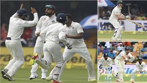 बेंगलुरू टेस्ट  आस्ट्रेलिया ने चायकाल तक बनाए 5 विकेट पर 163 रन