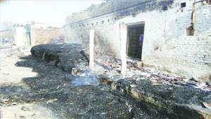 आग लगने से आधा गांव तबाह20 से अधिक घर जलकर नष्टडेढ़ दर्जन से अधिक मवेशियों की भी मौत