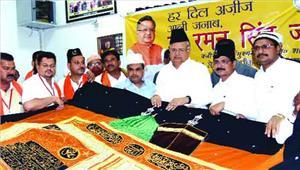 मुख्यमंत्री ने अजमेर शरीफ दरगाह के लिए भेजी चादर