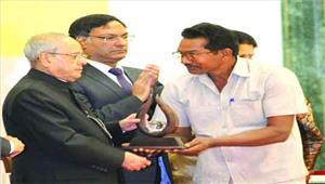 कृषक लीलाराम को राष्ट्रपति ने किया सम्मानित