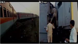 नहीं रुक रहे रेल हादसे यूपी में kaifiyatexpress डंपर से टकरायी 10 डिब्बे पटरी से उतरे कई घायल