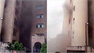 लखनऊ   सचिवालय के बापू भवन में लगी आग कई मंत्री बाल बाल बचे