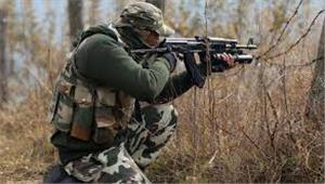 कश्मीर  मुठभेड़ में पुलिसकर्मी शहीद 2 आतंकवादी मारे गए
