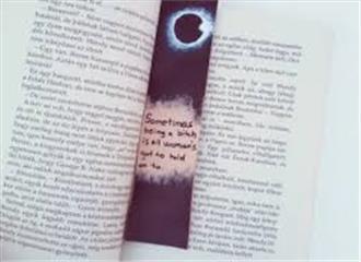 अंधेरे में चमकने वाला बुक मार्क्स