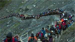 अमरनाथ यात्रा के दौरानतीर्थयात्री की मौत
