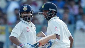 बेंगलुरू टेस्ट  पुजारा औररहाणे डटे भारत को 126 की बढ़त