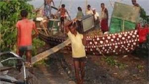 बिहार राहत शिविर छोड़अपने घरों में लौटने लगे हैं लोग