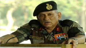 जम्मू -कश्मीर की स्थिति जल्दनियंत्रित होगी बिपिन रावत