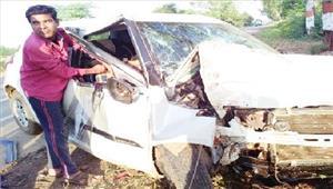 कार दुर्घटना में नगर ने एक और सपूत खोया