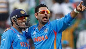 कटक वनडे युवराज औरधोनी की बदौलत भारत ने बनाए 381 रन