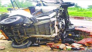 प्रतापगढ़ में ट्रक-टेम्पो की भिड़ंत में दो लोगों की मौतछह घायल