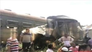 मिस्र  रेलगाड़ियों की टक्कर में 20 मरे