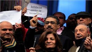 आतंकवाद के खिलाफ मिस्र के पत्रकारों का मौन प्रदर्शन
