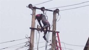 बैतूल में बिजली का पोल लगा रहे मजदूर की करंट से मौत