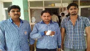पैट्रोल पम्प पर अज्ञात युवकों ने कर्मचारियों से की मारपीट