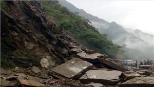 हिमाचल बसों पर गिरीभारी चट्टान44 लोगों की मौत