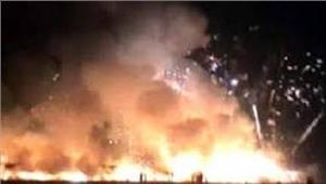 इंदौर पटाखा दुकान मेंआग लगने से7 लोगों की मौत