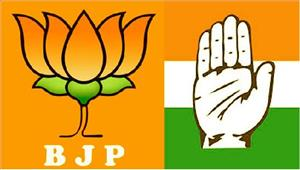 इंदौरकांग्रेस औरभाजपा कार्यकर्ताओं केबीचधक्का-मुक्की