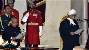 जगदीश सिंह खेहर भारत के प्रधान न्यायाधीश नियुक्त