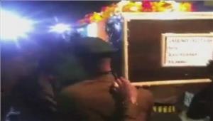 ग्वालियरपाकगोलीबारी मेंशहीद हुएसैनिकों को दीगई अंतिम विदाई