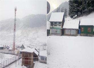 जम्मू एवं कश्मीर में हुई पहली बर्फबारी