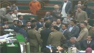 जम्मू-कश्मीर विधानसभा मेंमहबूबा की टिप्पणी हटाने परहंगामा