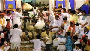 जौनपुर में मनाया गयापरम्परागत अन्नकूट महोत्सव