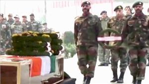 कश्मीर आतंकीहमले में शहीद हुए सीआरपीएफ अधिकारी को दी गईश्रद्धांजलि