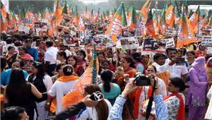 केरल हिंसा के खिलाफ  भाजपा महिला मोर्चा का शंखनाद महिलाओं ने किया प्रदर्शन