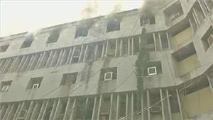 लखनऊसेल्स टैक्स दफ्तर की 5वीं मंजिल पर लगी आग