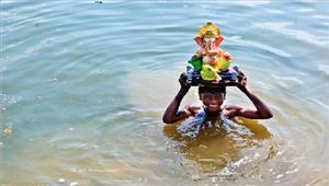 विसर्जन के दौरान डूबने से 2बालिकाओं की मौत