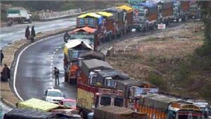 जम्मू-श्रीनगर राजमार्ग पर एकतरफा यातायात बहाल