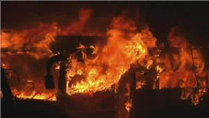 पणजीबस स्टैंड पर भीषण आग