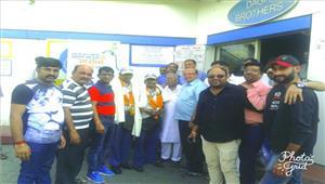 डागा पेट्रोल पंप के कर्मचारियों का युवा चेम्बर ने किया सम्मान