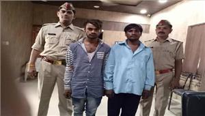 पुलिस मुठभेड़ में दो शातिर लुटेरे गिरफ्तार