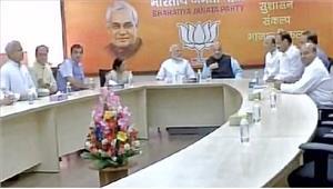 राष्ट्रपति उम्मीदवार पर बीजेपी की बैठक  ख़त्म