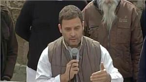 राहुल गांधी ने अकाली और भाजपा की आलोचना की